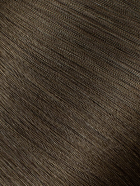"BELLAMI Professional Micro Keratin Tip 18"" 25g  Walnut Brown #3 Natural Straight Hair Extensions"