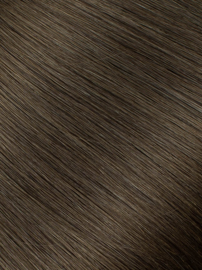 "BELLAMI Professional Micro I-Tips 16"" 25g  Walnut Brown #3 Natural Straight Hair Extensions"