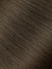 "BELLAMI Professional Micro Keratin Tip 16"" 25g  Walnut Brown #3 Natural Straight Hair Extensions"