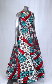 Ankara White Maxi dress - African print