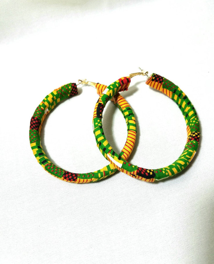Kente hoop earrings