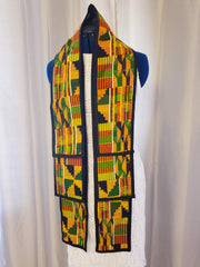 Kente print Stole / Sash / Scarf --- Trim Only