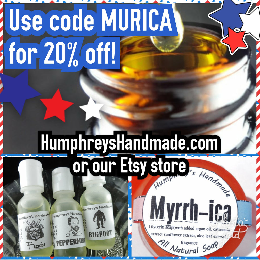 FREEDOM Sale - 20% off site wide! Beard Oil, Lip Balm, Body Spray, Beard Wash
