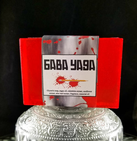 BABA YAGA Soap Bar |  Smoke & Blood Orange | Red | Shave Puck | Beard Wash | Large - Humphrey's Handmade