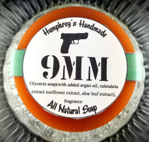 9mm Glycerin Soap | Unisex | Coffee and Leather | Beard Wash | Shaving