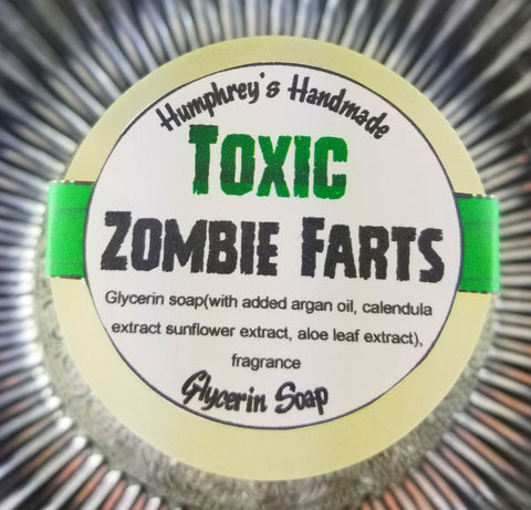 TOXIC ZOMBIE FARTS Soap | Glow in the Dark | Warm Vanilla Scent | Zombie Soap | Horror - Humphrey's Handmade