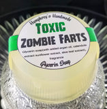 TOXIC ZOMBIE FARTS Soap | Glow in the Dark | Warm Vanilla Scent | Zombie Soap | Horror