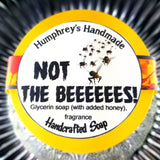 NOT THE BEEEEES Honey Soap | Shave Soap | Body Bar | Honeycomb Scent - Humphrey's Handmade