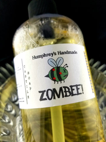 ZOMBEE Honeycomb Beard Wash & Body Wash | 8 oz | Unisex | Honey Scent Castile Soap - Humphrey's Handmade
