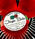 JINGLE BALLS Glycerin Soap | Spicy Cinnamon & Coconut | Funny Christmas Soap - Humphrey's Handmade