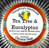 TEA TREE & EUCALYPTUS Soap | Acne Bar | Beard, Face and Body Soap | Essential Oil - Humphrey's Handmade