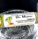 DR MOREAU Cologne | Roll On Jojoba Oil | Lime and Coconut Scent | Unisex - Humphrey's Handmade