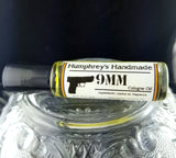 9mm Men's Cologne | Roll On Jojoba Oil | Leather & Coffee Scent - Humphrey's Handmade
