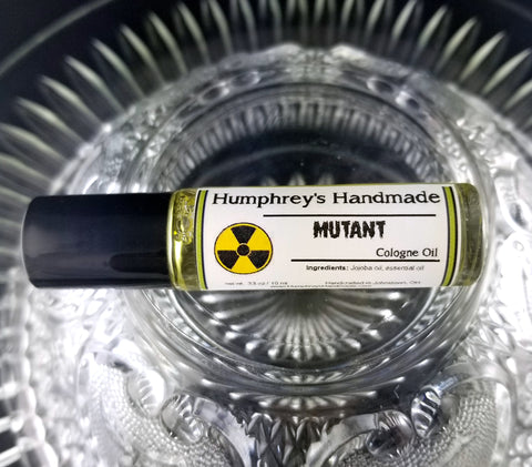 MUTANT Cologne | Roll On Jojoba Oil | Lemon Lime Essential Oil | Unisex - Humphrey's Handmade