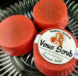 VENUS SCRUB Oatmeal Soap | Strawberry Scented Exfoliating Beauty Bar
