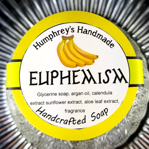 EUPHEMISM Banana Glycerin Soap | Beard Wash | Body Soap | Funny Unisex Hand Soap - Humphrey's Handmade