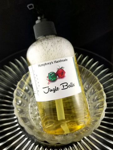 JINGLE BALLS Beard Wash & Body Wash | 8 oz | Cinnamon and Coconut Soap - Humphrey's Handmade