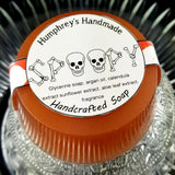 SPOOPY Halloween Soap | Unisex | Shave & Shampoo Bar | Beard Wash | Shave Puck | Apple Cider Scent - Humphrey's Handmade