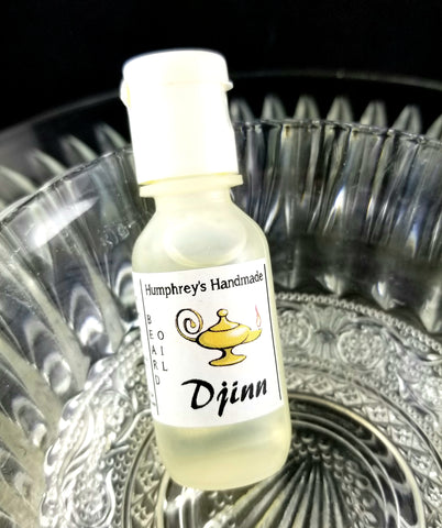 DJINN Beard Oil | .5 oz Sample | Agarwood Oud & Incense - Humphrey's Handmade
