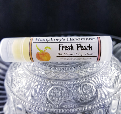 FRESH PEACH Lip Balm | Fruity Peach Flavor - Humphrey's Handmade