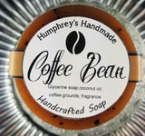 COFFEE BEAN Exfoliating Soap | Coffee Grounds Soap | Coffee Scent | Mechanics  or Gardeners Puck - Humphrey's Handmade