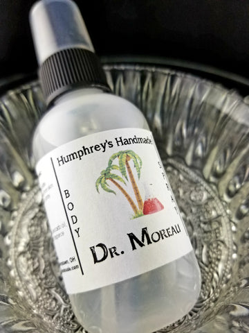 DR MOREAU Unisex Body Spray | Coconut Lime Tropical | 2 oz - Humphrey's Handmade