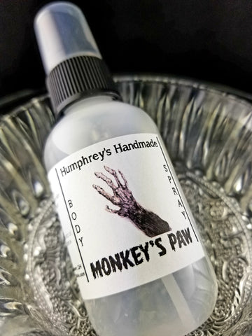 MONKEY'S PAW Unisex Body Spray | Banana & Coconut | 2 oz | Tropical - Humphrey's Handmade