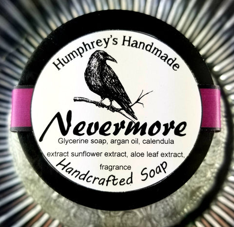 NEVERMORE Oud & Pumpkin Glycerin Soap | Shave & Body Bar | Beard Wash | Shave Puck | Woodsy | Nutmeg | Cloves - Humphrey's Handmade