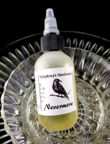 NEVERMORE Beard Oil | Pumpkin & Oud | 2 oz - Humphrey's Handmade