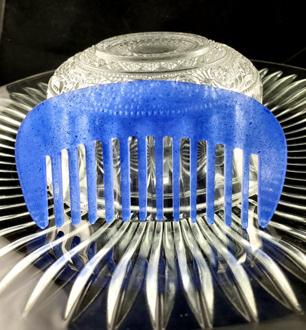 Speckled Blue Beard Comb | USA Made - Humphrey's Handmade