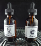 Large Jojoba Cologne or Beard Oil | 2 oz | Roll On Refill | Amber Glass Bottle Dropper - Humphrey's Handmade