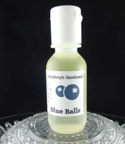BLUE BALLS Beard Oil | Sample .5 oz | Blueberry - Humphrey's Handmade