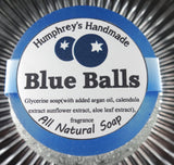 BLUE BALLS Blueberry Soap | Women's Shave Soap | Body Bar | Argan Oil - Humphrey's Handmade
