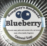 BLUEBERRY Oatmeal Soap | Exfoliating Mechanics or Gardeners Bar - Humphrey's Handmade