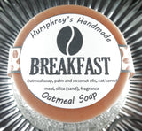 BREAKFAST Exfoliating Oatmeal Soap | Unisex | Coffee Bean Scent | - Humphrey's Handmade