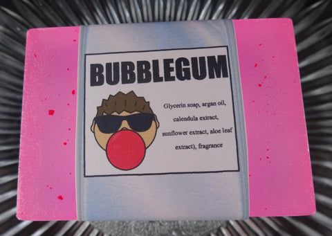 BUBBLEGUM Soap Bar | Kids | Unisex | Shave Puck | Beard Wash | Large - Humphrey's Handmade