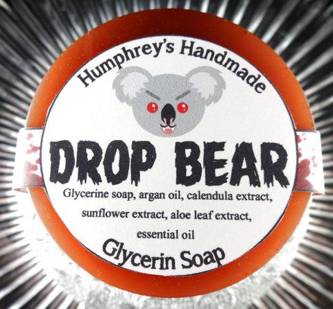 DROP BEAR Soap | Eucalyptus Tea Tree | Shave Puck | Beard Wash