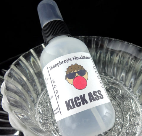 KICK ASS Body Spray | Bubblegum Scent | 2 oz | Linen Spray | Room Spray