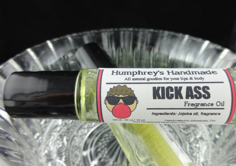 KICK ASS Cologne Oil | Bubblegum Scent | Jojoba Cologne Oil - Humphrey's Handmade