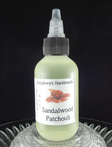 SANDALWOOD PATCHOULI Beard Oil | 2 oz - Humphrey's Handmade