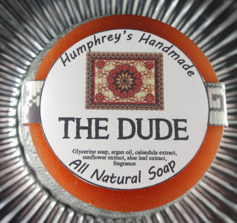 THE DUDE Soap | Sandalwood Patchouli | Shave Puck | Beard Wash - Humphrey's Handmade