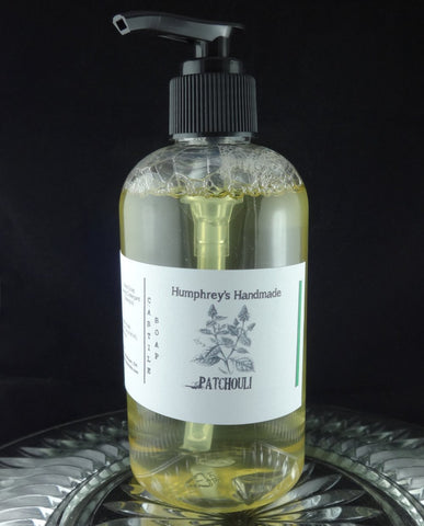 PATCHOULI Body Wash | Patchouli Scent Castile Soap | Unisex | 8 oz | Beard Wash - Humphrey's Handmade