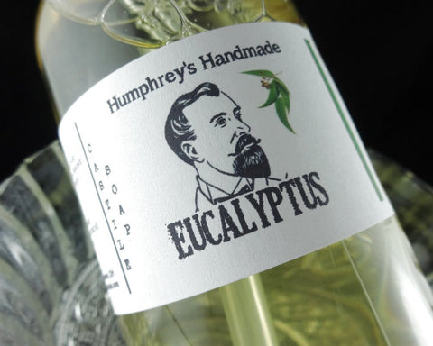 EUCALYPTUS Body Wash | Unisex | 8 oz | Men's Beard Soap | Castile Shower Gel - Humphrey's Handmade