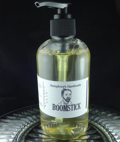 BOOMSTICK Men's Castile Soap | Beard Wash | Body Wash | 8 oz | Bergamot | Wood | Musk - Humphrey's Handmade