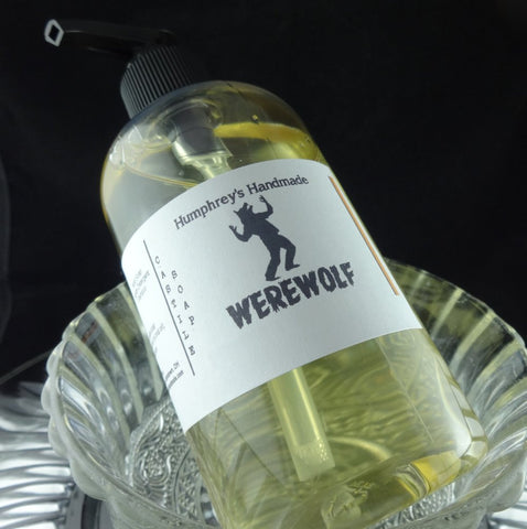 WEREWOLF Beard Wash & Body Wash | 8 oz | Twilight Woods Type Scent Castile Soap - Humphrey's Handmade
