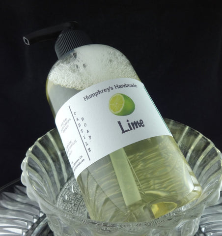 LIME Unisex Body Wash | 8 oz | Castile Soap | Essential Oil - Humphrey's Handmade