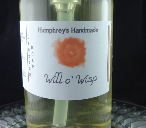 WILL O' WISP Castile Body Wash | 8 oz | Women's Mango Strawberry Freesia Scented - Humphrey's Handmade