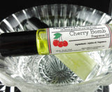 CHERRY BOMB Roll On Perfume | Black Cherry Almond | Golden Jojoba Oil - Humphrey's Handmade