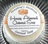 HONEY ALMOND Oatmeal Soap | Exfoliating Mechanics or Gardeners Bar - Humphrey's Handmade