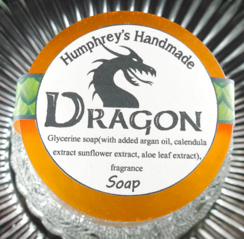 DRAGON Soap | Glycerin Smoke Bonfire Scent | Beard Wash | Shave Soap - Humphrey's Handmade